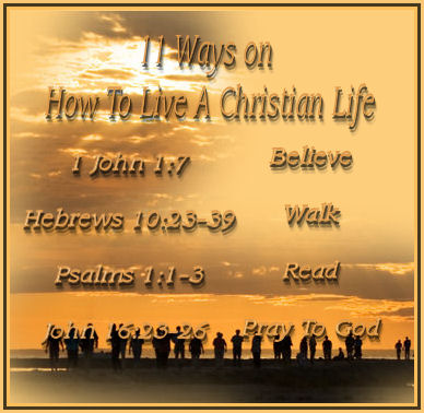 Believe ---- you believe the Gospel and the entire Word of God at all times and walk in the light as you receive it. 1 John 1:7