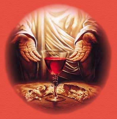 Jesus With Bread and Wine
