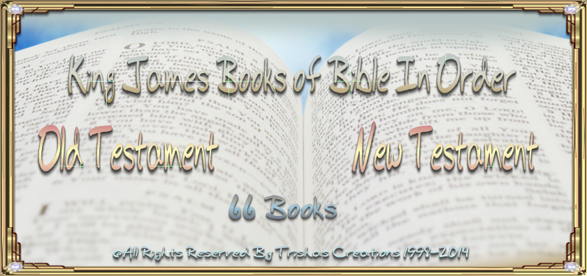 King James Books of Bible In Order