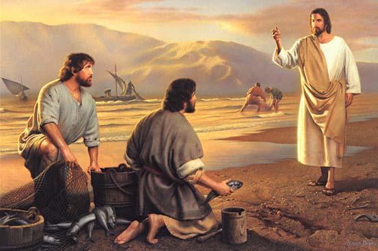 Jesus Talking to John and Matthew