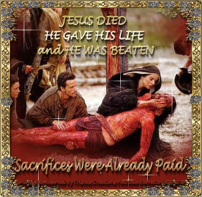 Be Thankful that God sent Jesus His Only Begotten Son, to fulfill all of the laws enumerated in the Old Testament and to be once and for all, perfect sacrifice for our sins