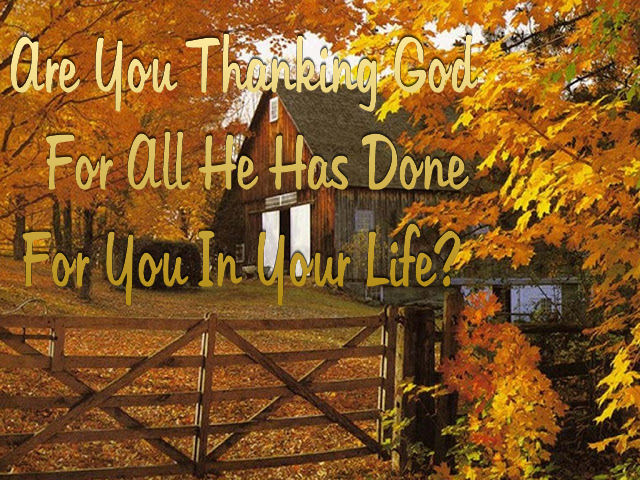 Are You Thanking God For Everything