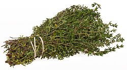 Thyme is of the genus Thymus, most commonly Thymus vulgaris