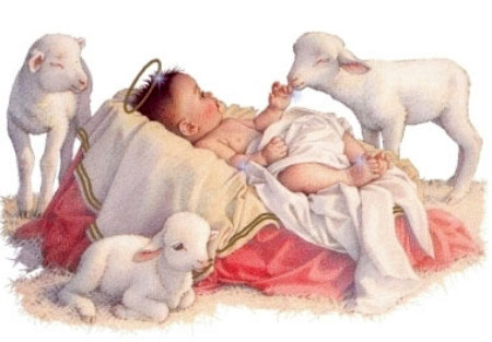 Baby Jesus and Lambs