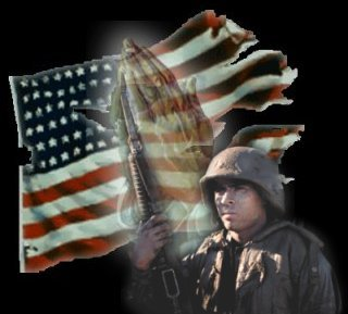 Flag-Praying Hands-Soldier Image