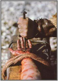 Nailed to the Cross, His feet was nailed to the Cross
