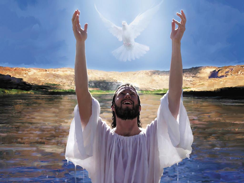 Jesus Lifting His Hands