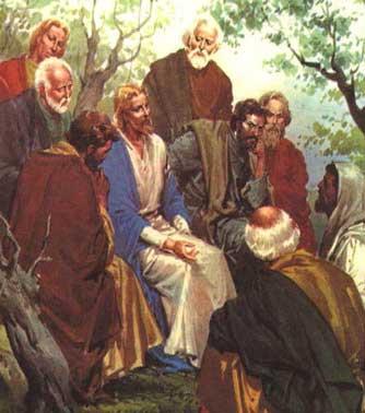 Jesus Talking to His Disciples