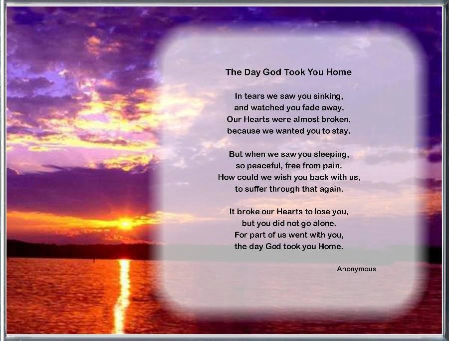 God Took You Home