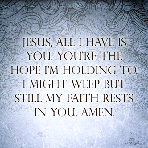 Jesus All I Have Is You