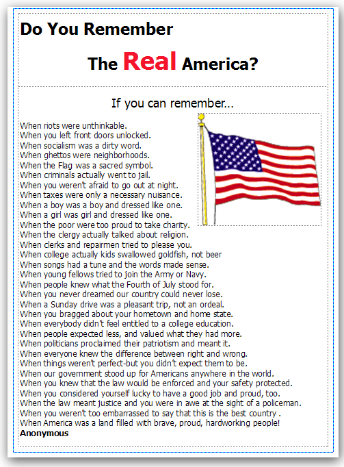 Remember The real America